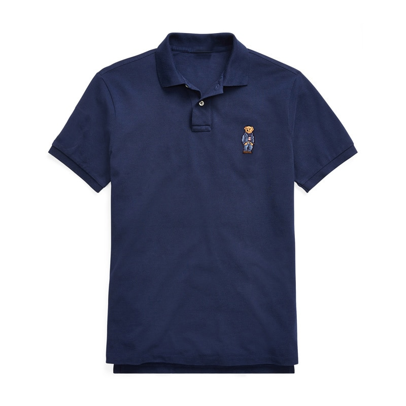 Hombre High Quality Bear Polo Shirt Men Short Sleeve Casual 100% Cotton Polo Shirt Male For Homme