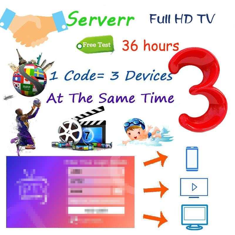 Mejor HD tv World Premium 3 dispositivos compatibles con 1 año de garantía gratuita prueba xxx m3u con caliente para Smartt Android TV Box Pc engima2