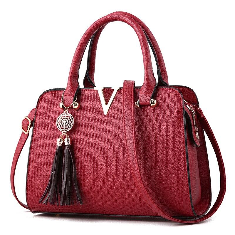Fashion Women Tassel Luxury Leather Handbags For 2020 FemaleTop-Handle Tote Crossbody Messenger Bag borse da donna