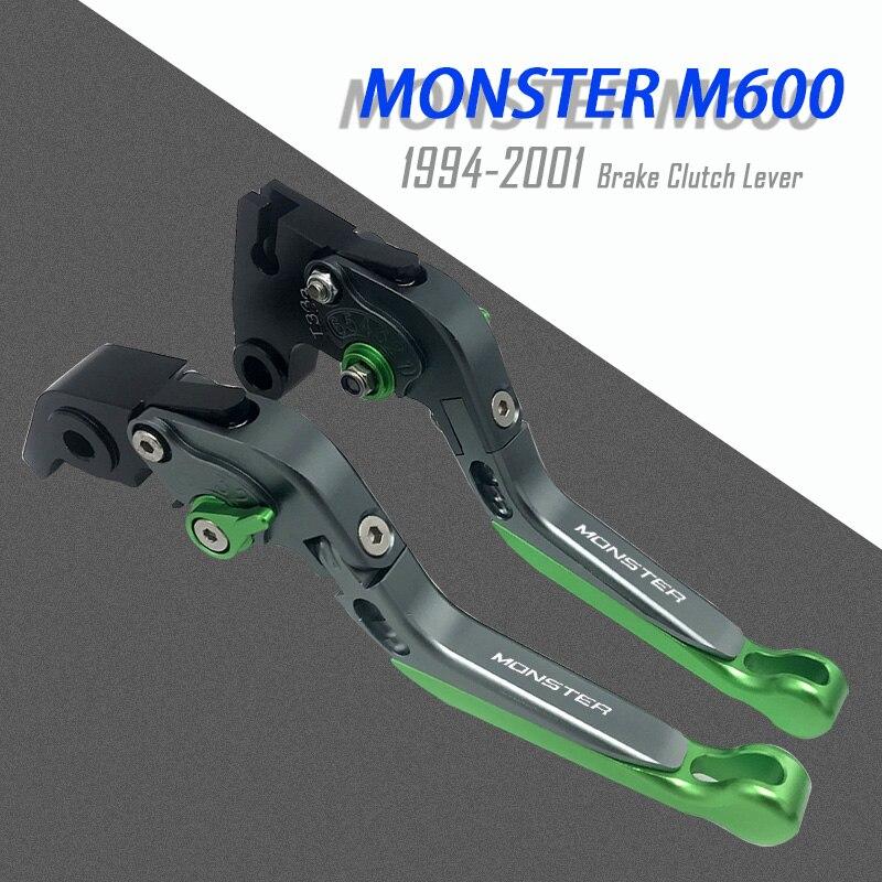 Рычаги тормозной муфты для мотоцикла с ЧПУ для Ducati Monster M600 1994-2001 регулируемые Складные Выдвижные аксессуары из алюминиевого сплава