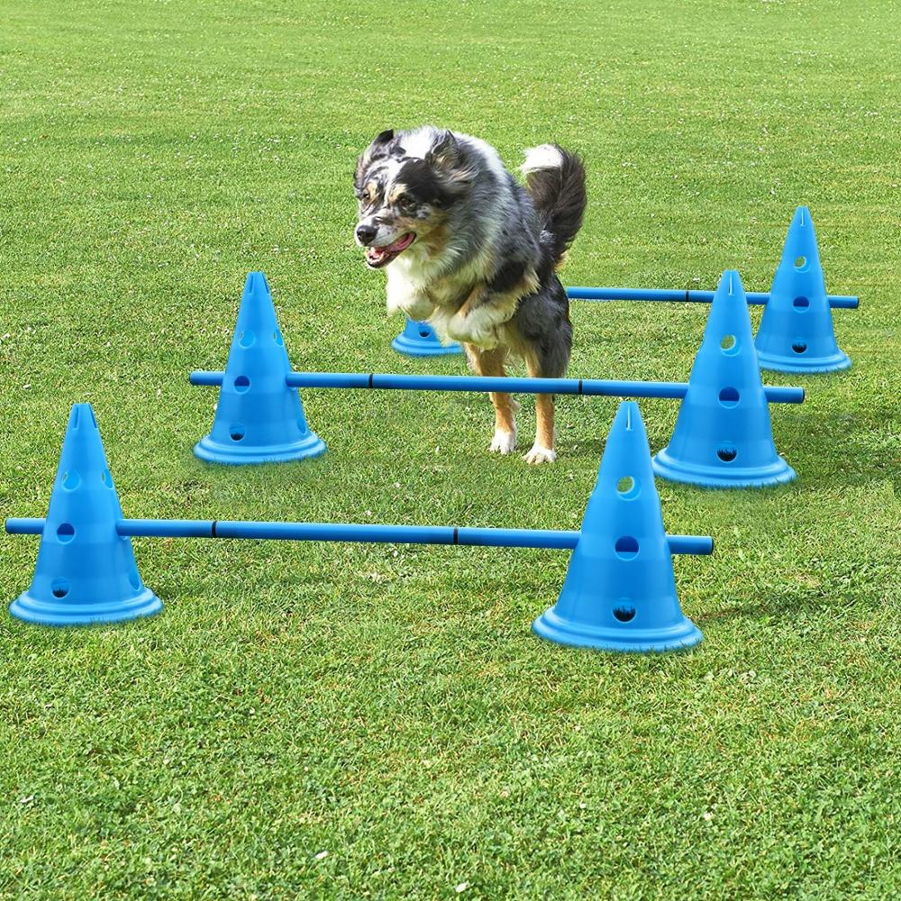مجموعة مخروط تدريب الكلاب ، منتجات تدريب الكلاب ، معدات الجري ، كرة القدم ، 3 وحدات