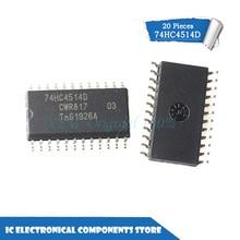 Nowy oryginalny 74HC4514D 74HC4514 SOP-24 IC 20 sztuk/partia