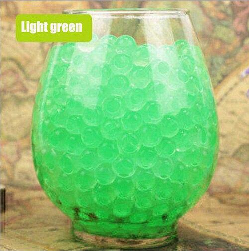100 unids/lote hidrogel grande en forma de perla grande 2-3cm verde cristal suelo agua cuentas barro crecimiento bola boda cultivo bulbos