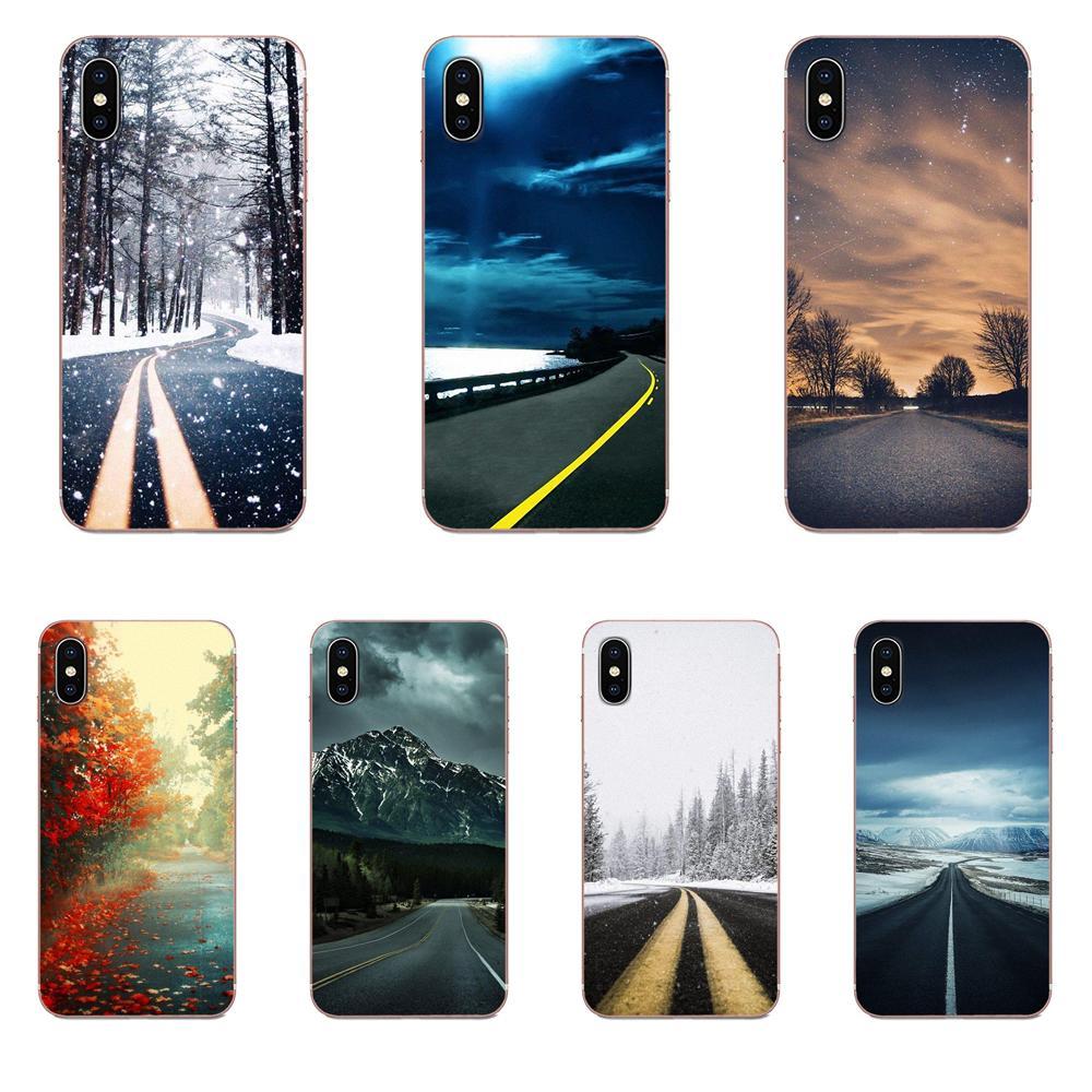 Beautiful Roadside Scenery For Huawei Honor 5C 5X 6A 6X 7 7A 7X 8 8A 8S 8X 9 10 30 Lite Pro Y6 II Y7 Y9 Prime 2019 Ultra Thin