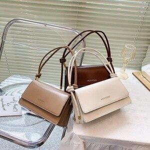European Style Handbag New Fashion Solid Color Adjustable Women Shoulder Bag Retro Baguette Bag Fashion Simple Female Armpit Bag