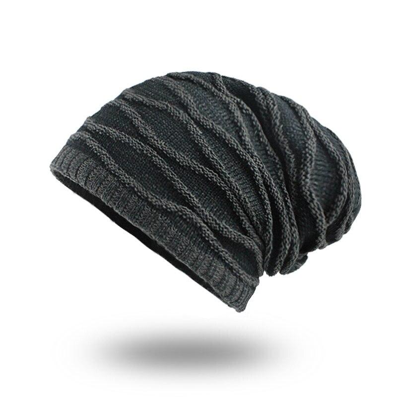 Gorro de inverno gorro de malha gorro de inverno quente macio chapéu de tricô xadrez gorro mais forro
