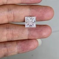 meisidian 8x8mm 3 karat diamond princess cut square shape white moissanite pirce per carat