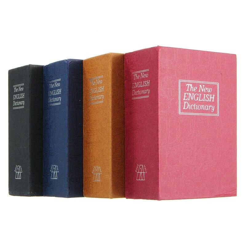 Бытовой ящик для хранения, словарь книг, банковские наличные деньги, ювелирные изделия, скрытые секретные шкафчики безопасности с 2 замками