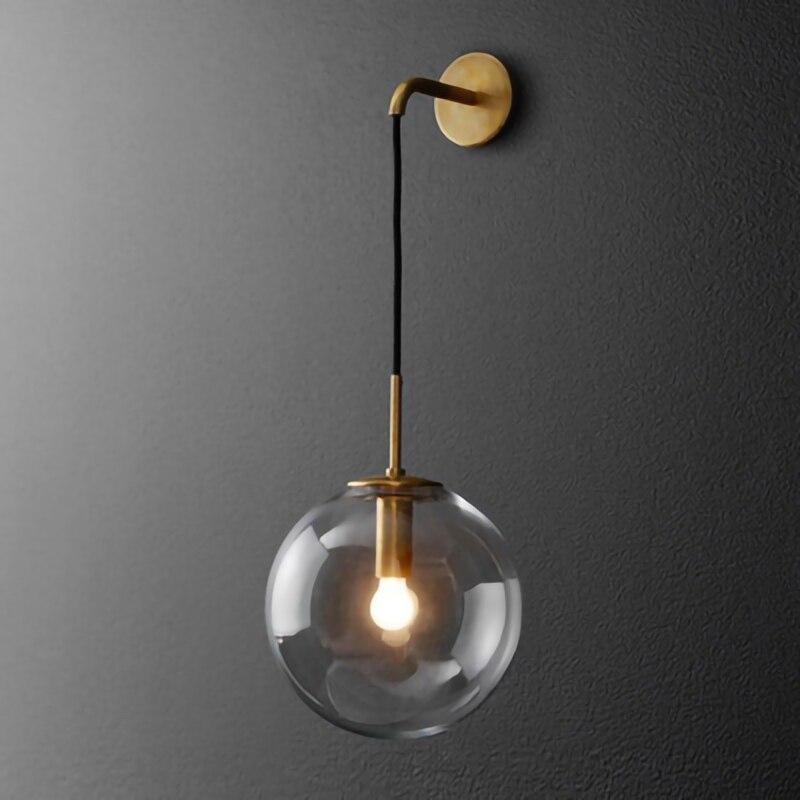 Nordic pós moderno conduziu a lâmpada de parede luz luxo ouro cor preta bola gall quarto interior sala estar restaurante arandelas parede