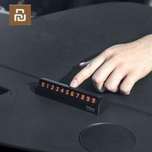 Pour xiaomi Mijia Bcase TITA X partager à Bcase Type de retournement voiture tempérée stationnement numéro de téléphone carte plaque Mini voiture décoration