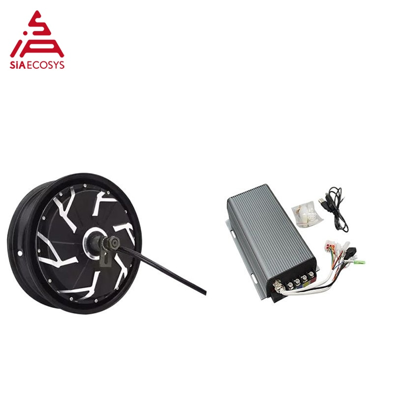 QS Motor 12inch 5000W 260 45H V4 BLDC electric scooter motorcycle wheel hub motor with sabvoton SVMC72200 Sin wave Controller enlarge