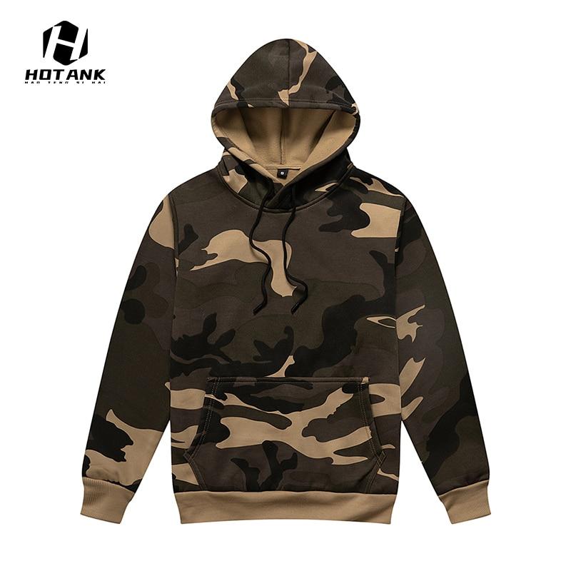 Brand Fashion Camouflage Hoodie Mens Autumn Winter 2021 New Casual Sweatshirt Long Sleeve Top Loose