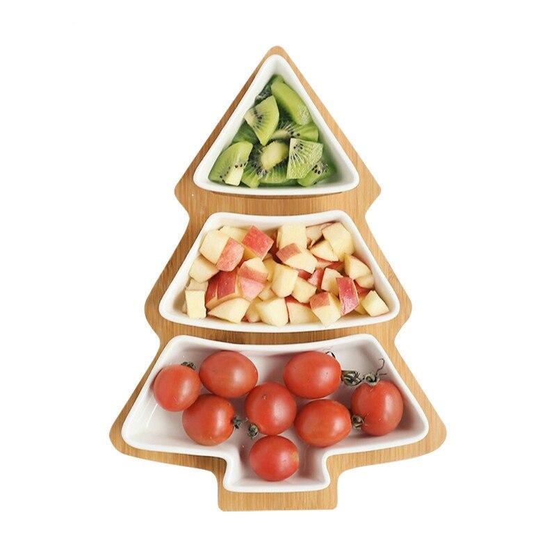 1 مجموعة شجرة عيد الميلاد أطباق من الخزف/ السيراميك أطباق بورسلين المائدة أواني الطعام سلطة كعكة حلوى الفاكهة الحلوى أطباق ديكور عيد الميلاد