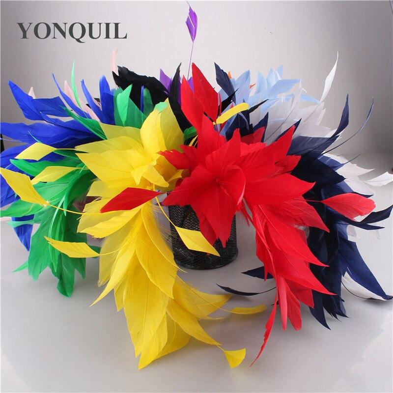 Elegante bonito ramillete de boda flores plumas baile latino decoración cena fiesta Plume accesorios DIY 6 unids/lote