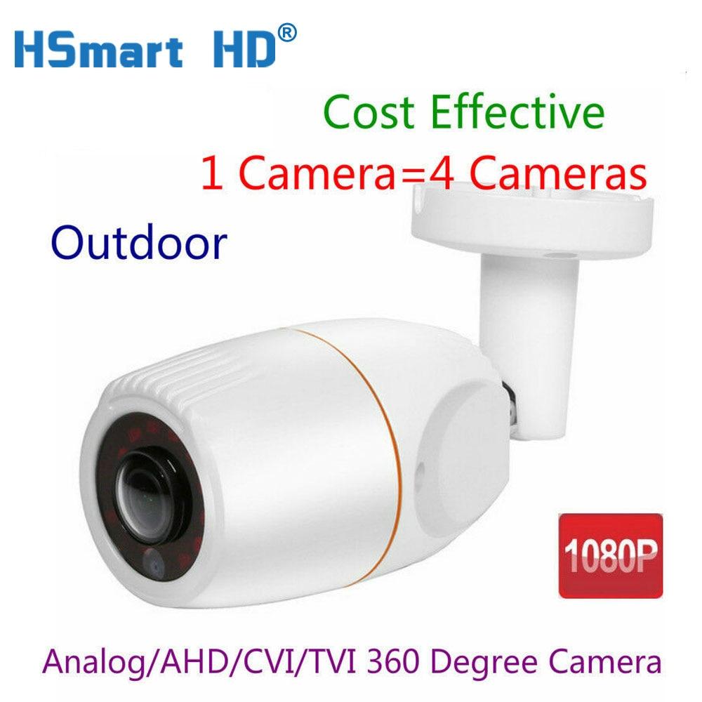 1080P HD AHD CVI TVI cámara de seguridad CCTV al aire libre 360 grados gran angular ojo de pez por cable AHD Cámara 180 grados 12 Uds IR LEDs