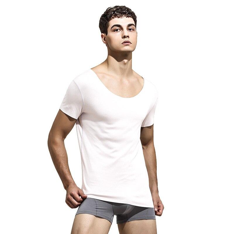 Seamless Summer Cool Men Vest Modal Tank Tops Underwear Mens Undershirt Short Sleeves Shirt Male Bodybuilding Fitness Tank Shirt
