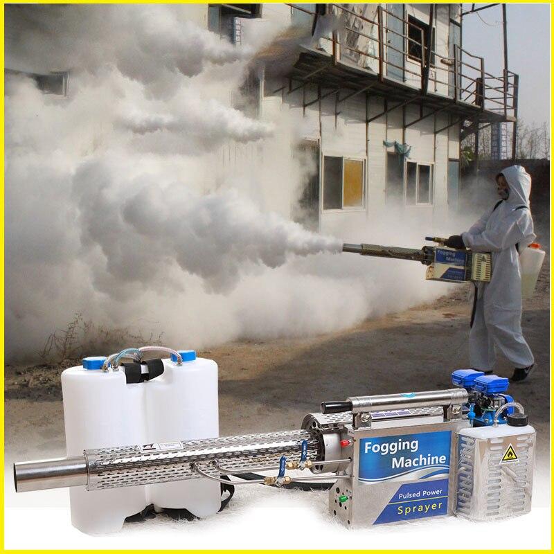 Draagbare Thermische Fogger Machine Thuis Kantoor Virus Desinfectie Beslaan Spuit 16L Ulv Benzine Power Desinfecterende Spray Machine