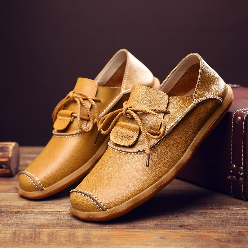 2021 New Soft Sole, Tendon Sole Wear-resistant Sole Lightweight Driving Business Casual Men's Shoes