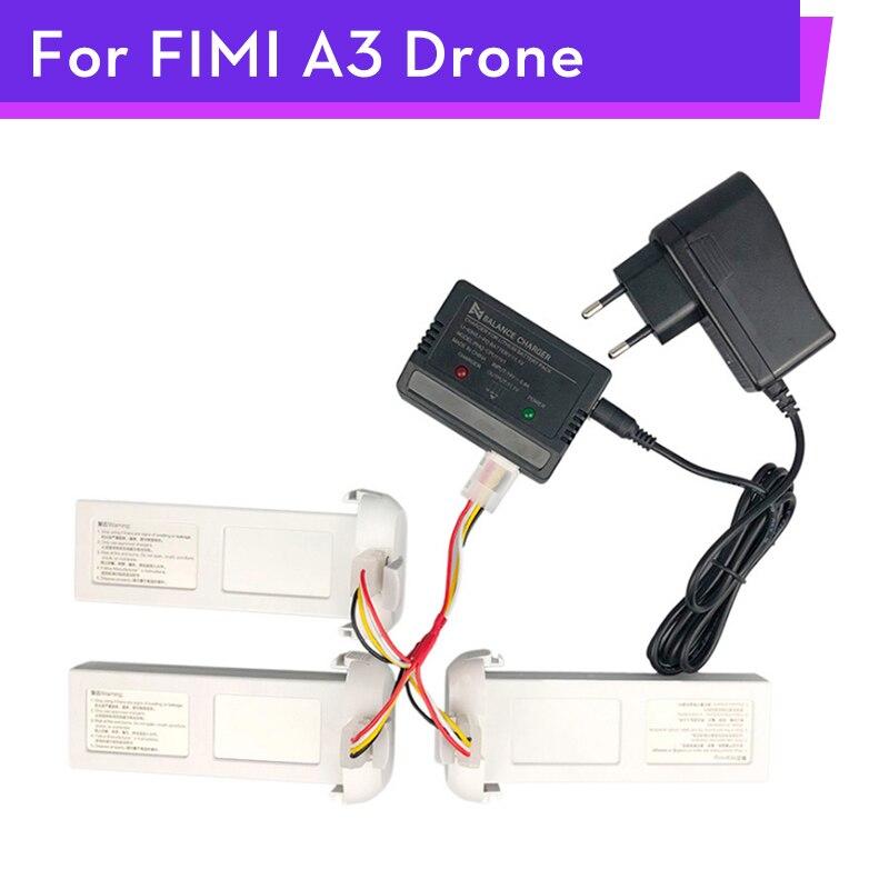 Cargador equilibrado para Drone FIMI A3 Original, adaptador de batería 3 en 1, cargador de Cable, recambios de cuadrirrotor RC, accesorios al por mayor