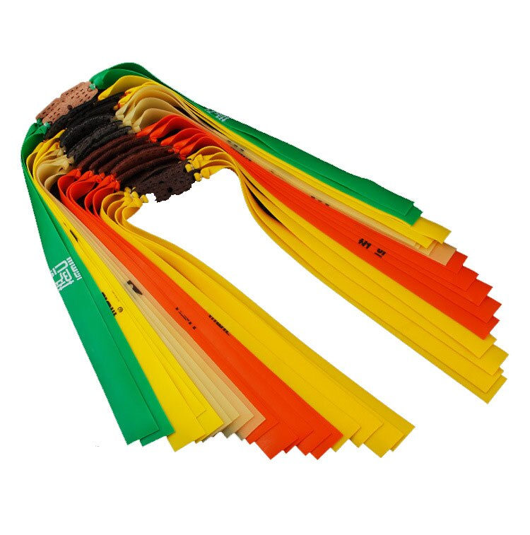5 pçs banda de borracha estilingue plana ejeção natural látex borracha banda para caça tático estilingue ao ar livre