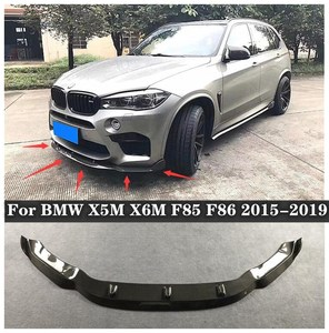 High Quality Carbon Fiber Bumper Front Lip + Rear Diffuser+ spoiler + Side Skirts Cover Fits For BMW X5M X6M F85 F86 2015-2019