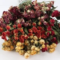 1bunch dried natural flowers rose wedding bouquet valentines day gift creative wholesale room decoration home party