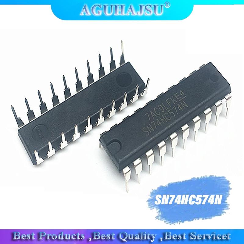 10 Uds SN74HC574N DIP20 SN74HC574 DIP 74HC574N 74HC574 D-Tipo de flip-flop chip