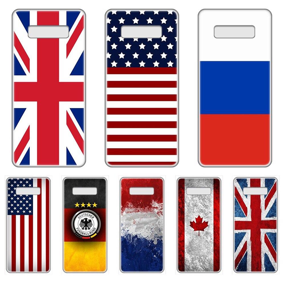 États-unis angleterre russie drapeau National coque de téléphone transparente pour SamSung Galaxy S 7 8 9 10 11 20 a 20e 50 51 70 71 Plus Edge Ultra