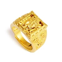 vintage original 24k gold buddhism finger rings for women buddha shape knuckle mens rings girls 2021 new fashion luxury jewelry