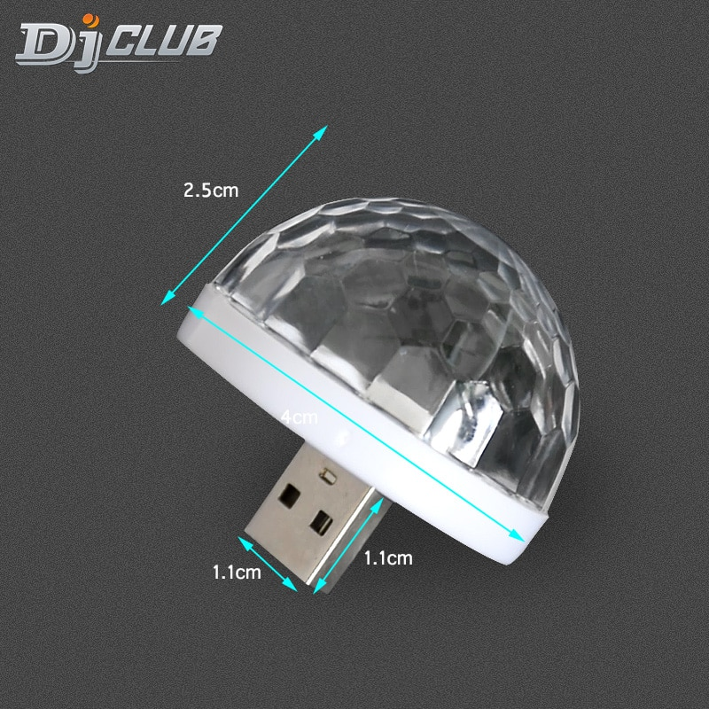 mini stage light 3w usb powered sound actived multicolor disco ball magic effect lamp for birthday party concert d Usb Party Lights Mini Disco Ball,Led Small Magic Ball Sound Control Dj Stage Light Colorful Strobe Rgb Lamp For Christmas