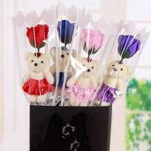 Savon de bain parfumé 1 pièce   Rose, savon, pétale de fleur, avec boîte-cadeau pour la saint-valentin, mariage, saint-valentin, fête des mères, journée de lenseignement