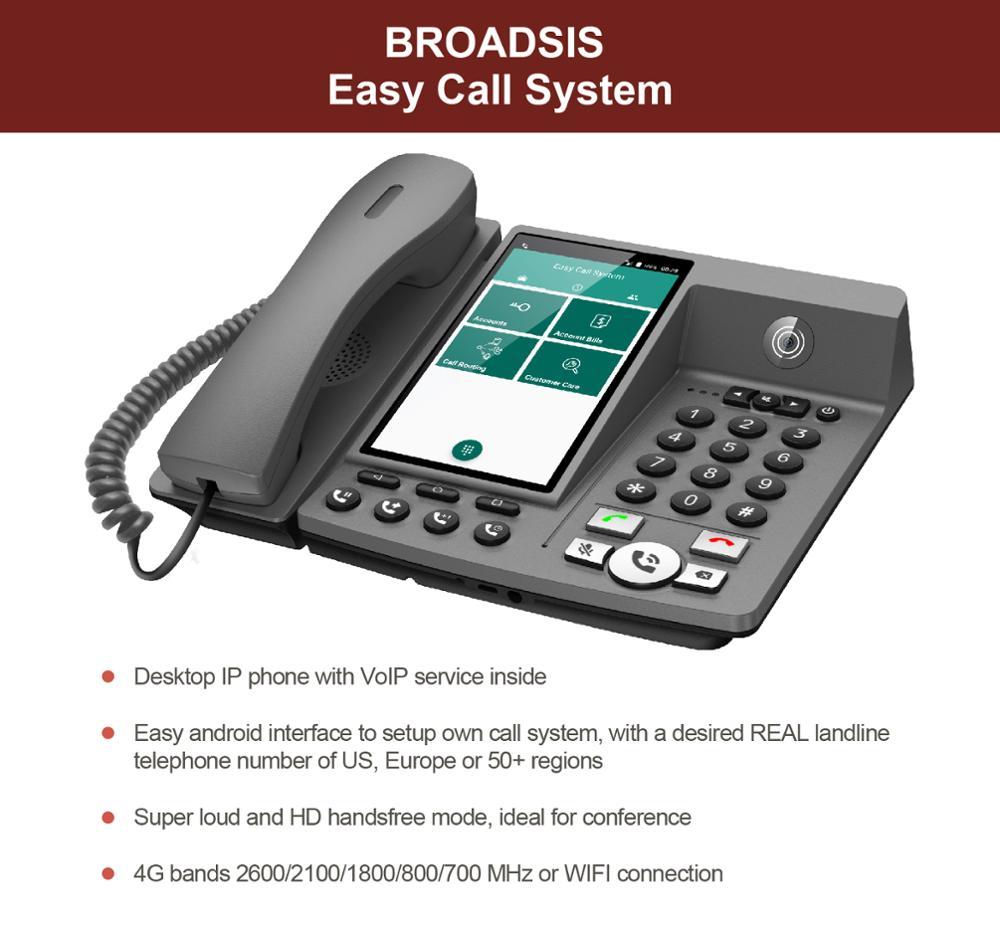 الهاتف الثابت الذكي سطح المكتب IP خدمة الفيديو عبر بروتوكول الإنترنت داخل-أندرويد 7.0 4G- 3G واي فاي بطاقة SIM لإجراء مكالمة هاتفية
