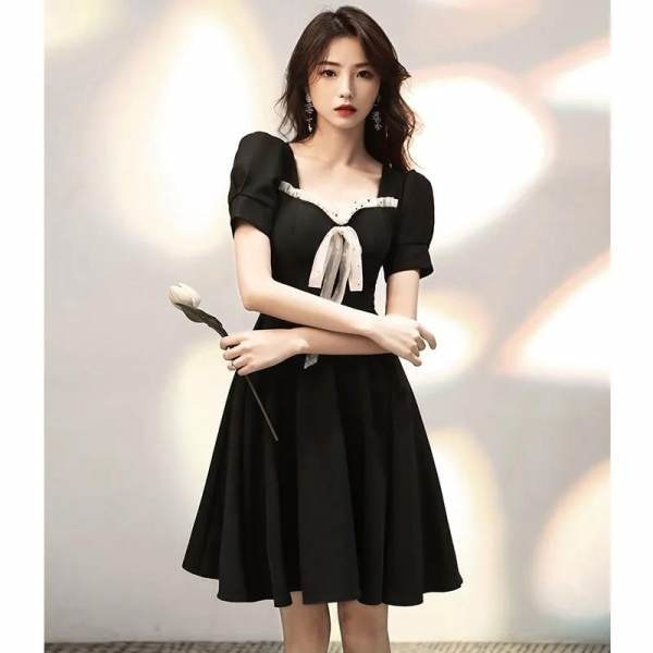 French Retro Dress for Women plus Size Summer New