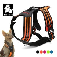 Спортивная нейлоновая Светоотражающая шлейка Truelove для собак на открытом воздухе, приключения для питомцев с ручкой от XS до XL, 5 цветов, фабри...