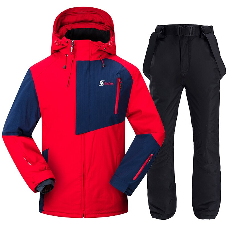 Men Ski Suit Windproof Waterproof Skiing Snowboarding Jackets and Pants Winter Outdoor Sports Ski Set Male Thick Warm Ski Suits