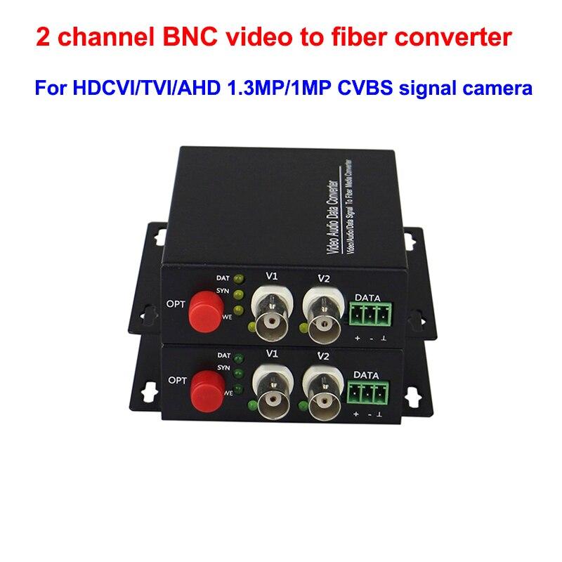 HD AHD CVI /TVI 720P 960P 2CH الألياف البصرية إلى BNC محول الفيديو الرقمي جهاز إرسال من الألياف الضوئية والاستقبال للحصول على نظام الدائرة التلفزيونية الم...