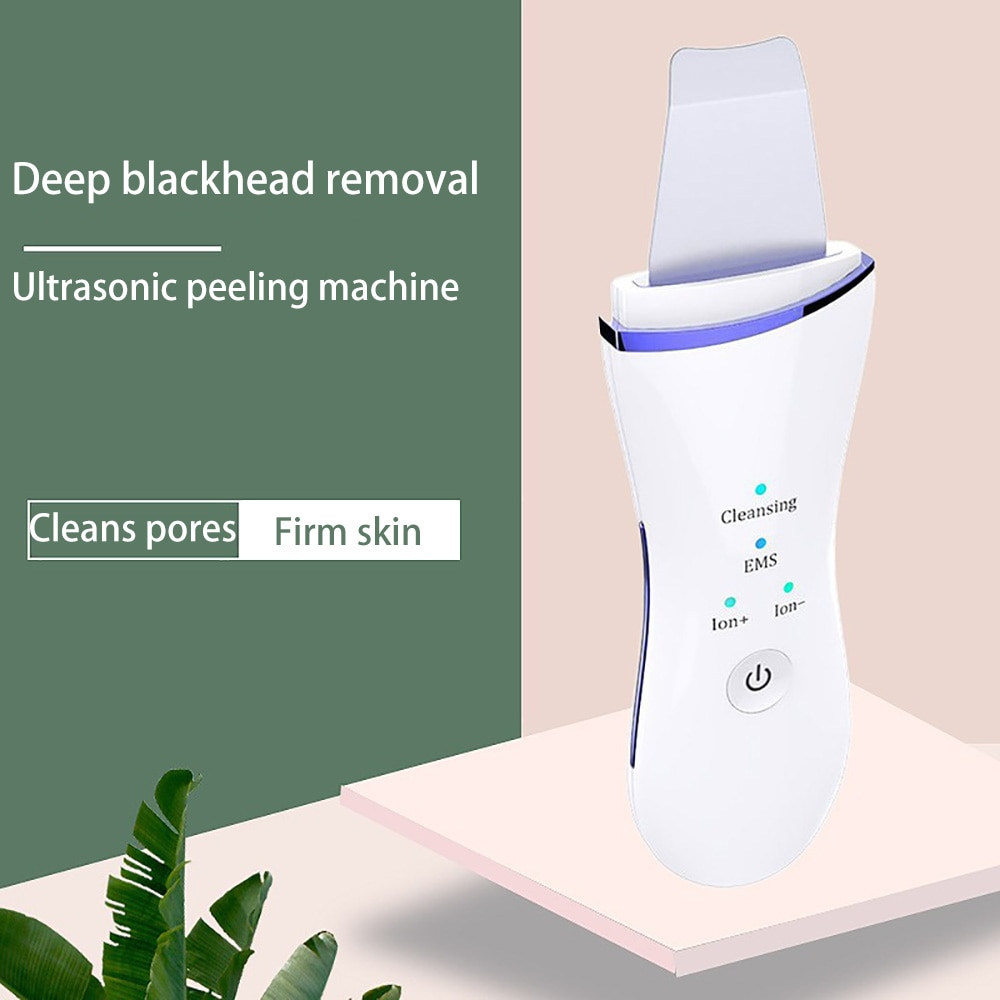 Beauty Ultrasonic Skin Scrubber USB Plug Facial Cleansing Blackhead Remover Face Cleaner Machine Skin Care Acne Massager Tools
