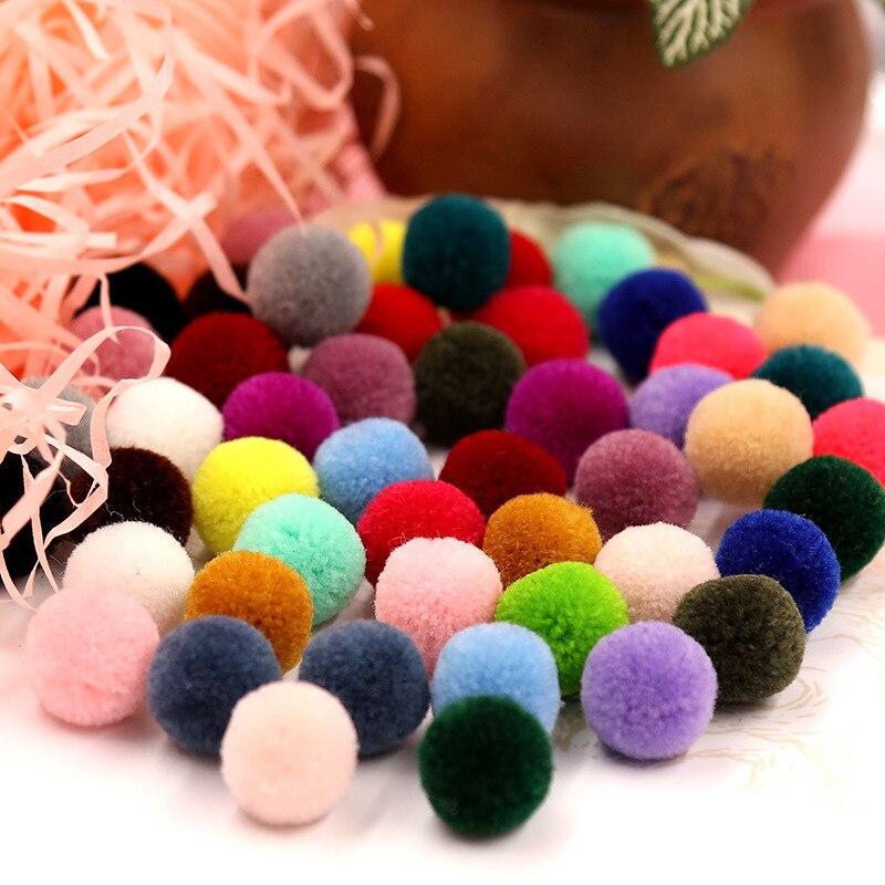 100 pec, accesorios de joyería japoneses y coreanos, pequeño Yang mei, Bola de lana fina de Cachemira, 15mm, material manual diy, Bombilla para el cabello