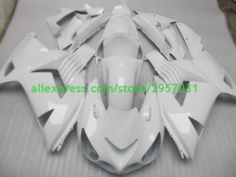 Freies schrauben + geschenke für KAWASAKI Ninja ZX14R ZZR1400 06 07 spritzguss 2006-2011 ZX 14R Alle Weiß 06 07 2006 2007