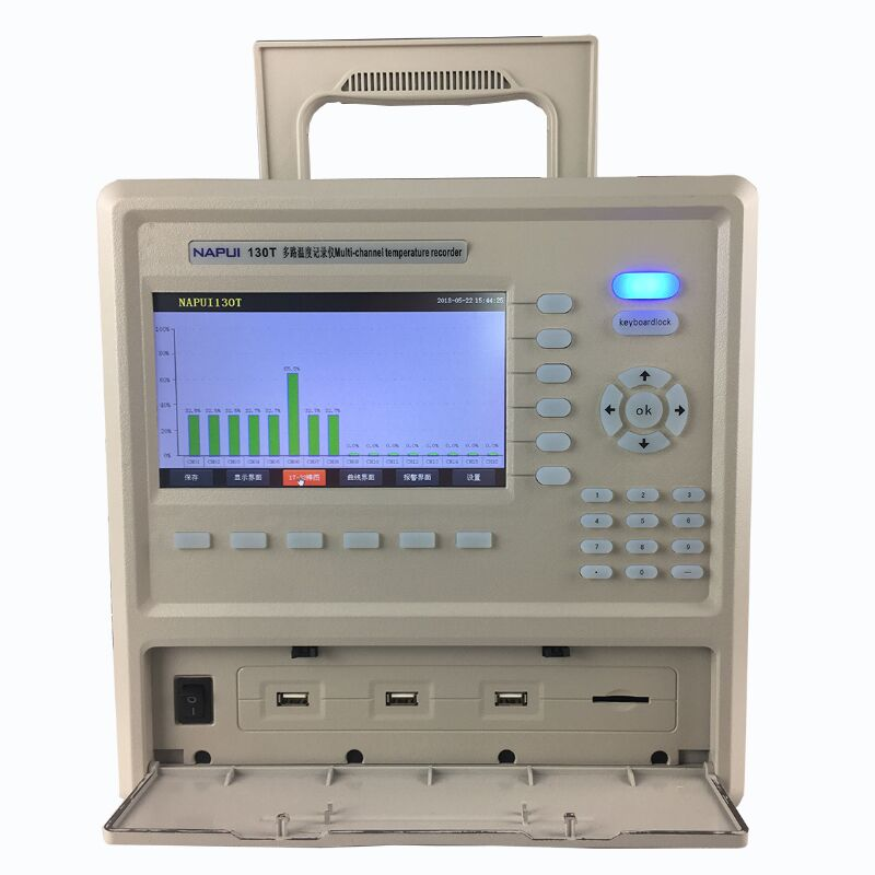 48 Channels Colorful Display Paperless Temperature Controller Recorder RS485 Data Logger enlarge