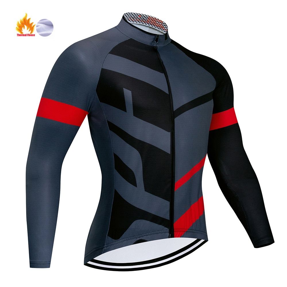 Equipo profesional de Invierno para Ciclismo, Maillot de manga larga, Ropa térmica...