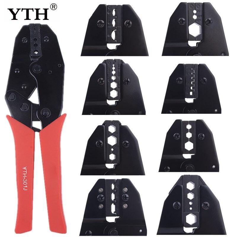 Yth alicate de friso, ferramenta de crimpador de fio, conjunto de pinça eletricista, terminais, alicates frisadores de cabos