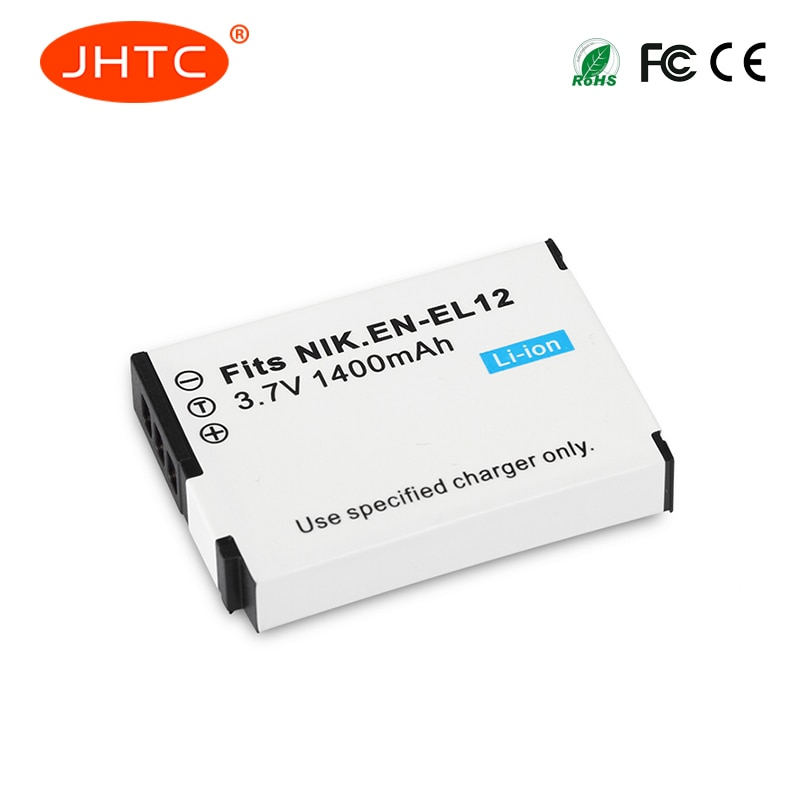 EN-EL12 1400mAh Bateria para Nikon CoolPix S610 S610c S620 S630 S710 S1000pj P300 P310 P330 S6200 S6300 S9400 S9500 EN EL12