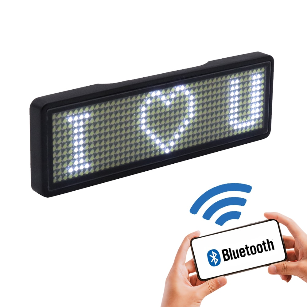 2020 fully new bluetooth LED name badge support multi-language multi-program small LED display HD te