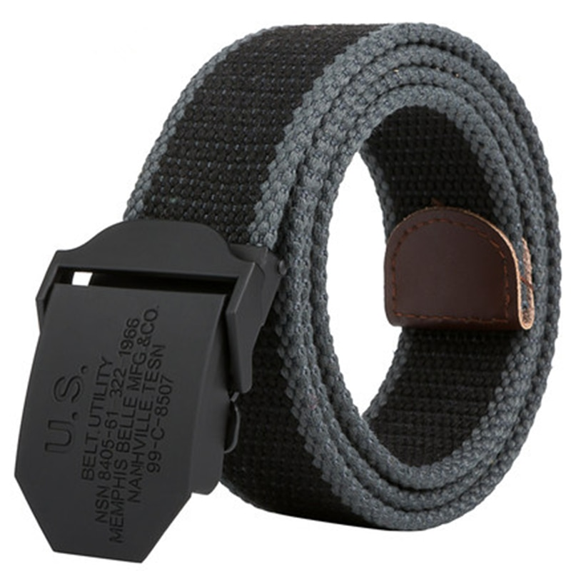 ¡2019! cinturón de lona Unisex para hombre, cinturón de carga informal para fans militares, cinturón táctico de campo para hombre