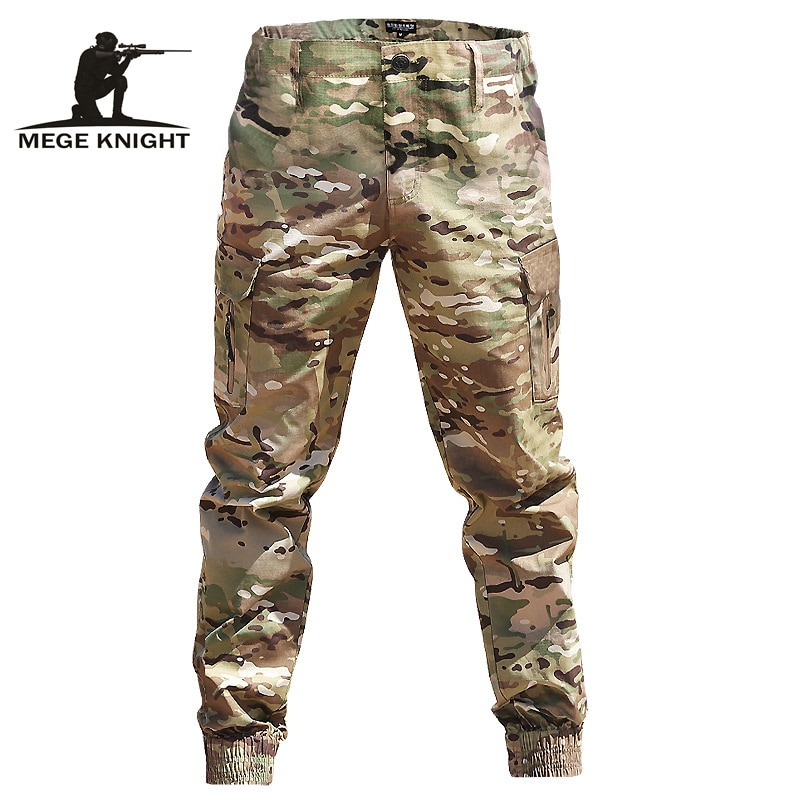 Mege Brand Men Fashion Streetwear Casual Camouflage Jogger Pants Tactical Military Trousers Men Carg