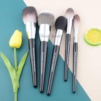 S Серия Pro кисти для макияжа пудра основание веера Румяна хайлайтер Кисть для макияжа большой размер черный ручка синтетических волос хорош...