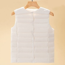 Down Vest Women 2021 New Short Winter Large Size Thermal Waistcoat Clothes Single-Breasted Lightweig