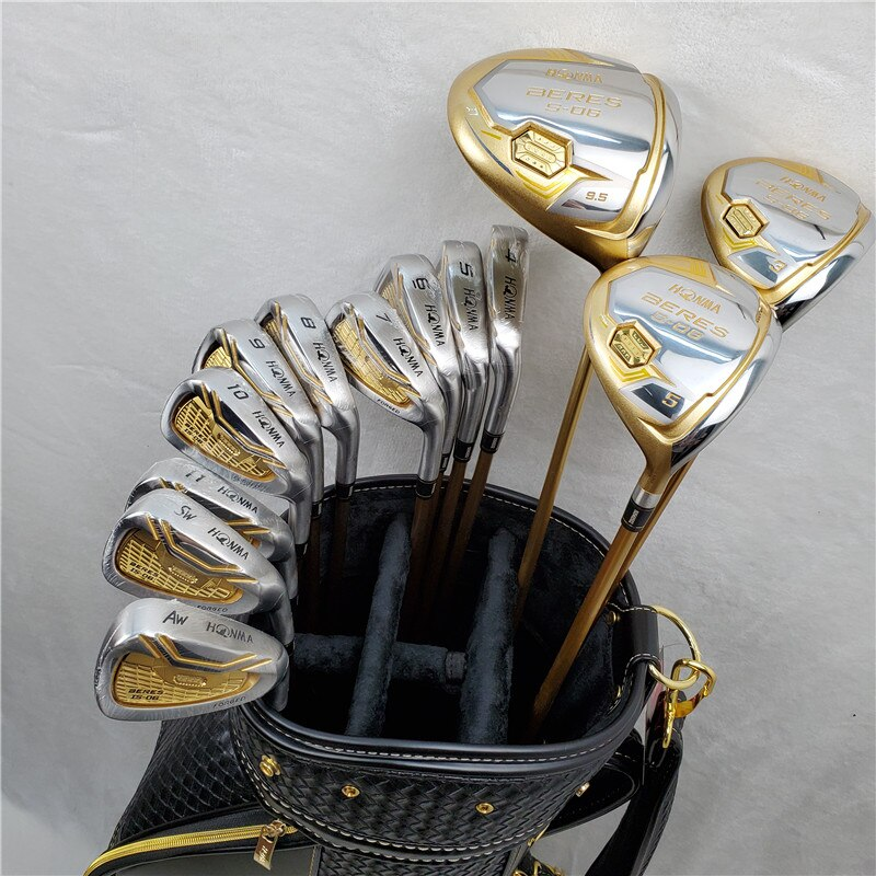 New HONMA S-06 Men's Golf Set Golf Course Woods + Golf Irons Set + Golf Putters Free Shipping