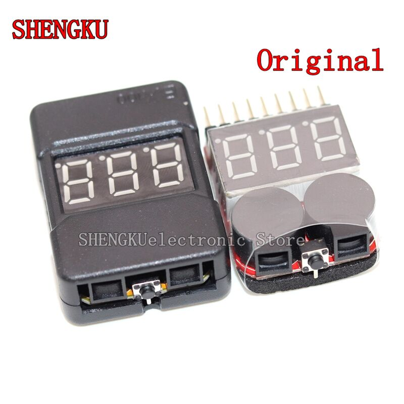 BX100 new BB low voltage alarm 1-8S model airplane lithium battery power display For RC Drone Helicopter 2pcs 1pcs bx100 1 8s lipo battery voltage tester low voltage buzzer alarm battery voltage checker with dual speakers